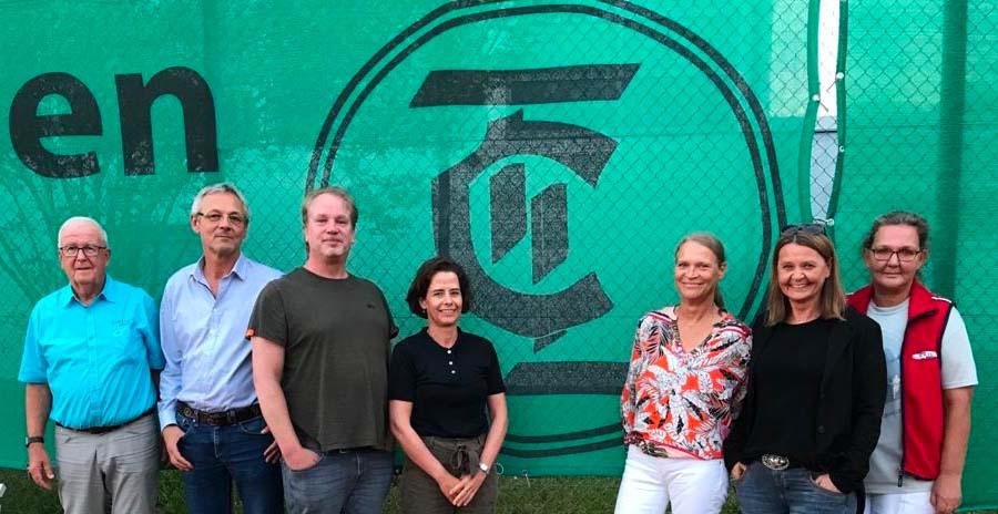 der Vorstand des TCL (vRnL): Walter Loll, Jürgen Kannengießer, Jens Kleemann,  Anke Kannengießer, Martina Kämmerer, Dagmar Kleemann, Juliane Marten